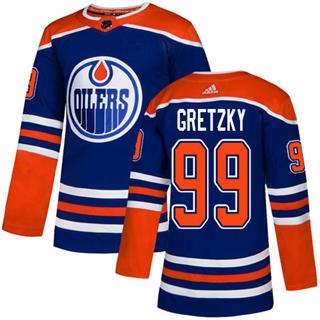 Men's  Edmonton Oilers #99 Wayne Gretzky Royal Alternate  Stitched Hockey Jersey