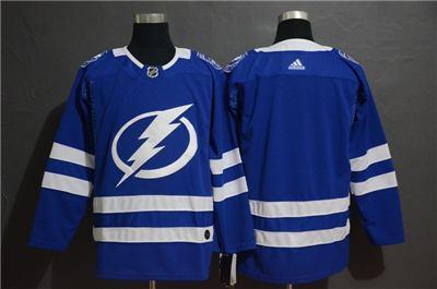 Men's  Lightning Blank Blue Stitched Hockey Hockey Jersey