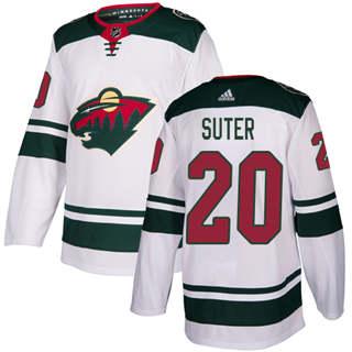 Men's  Minnesota Wild #20 Ryan Suter White Road  Stitched Hockey Jersey