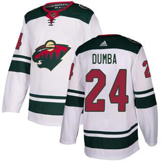 Men's  Minnesota Wild #24 Matt Dumba White Road  Stitched Hockey Jersey