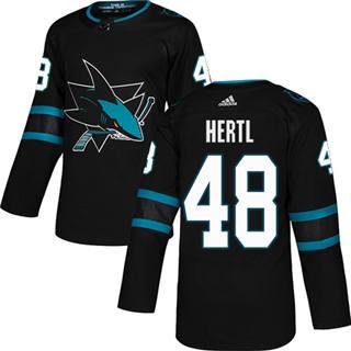 Men's  San Jose Sharks #48 Tomas Hertl Black Alternate  Stitched Hockey Jersey