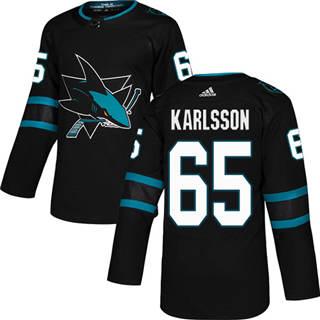 Men's  San Jose Sharks #65 Erik Karlsson Black Alternate  Stitched Hockey Jersey