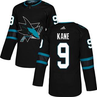 Men's  San Jose Sharks #9 Evander Kane Black Alternate  Stitched Hockey Jersey