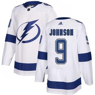 Men's  Tampa Bay Lightning #9 Tyler Johnson White Road  Stitched Hockey Jersey