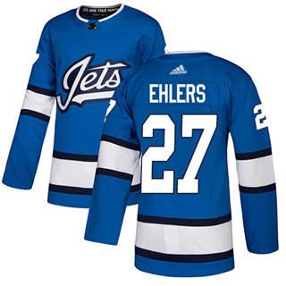 Men's  Winnipeg Jets #27 Nikolaj Ehlers Blue Alternate  Stitched Hockey Jersey
