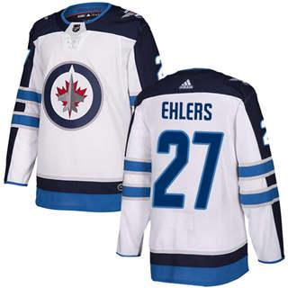 Men's  Winnipeg Jets #27 Nikolaj Ehlers White Road  Stitched Hockey Jersey
