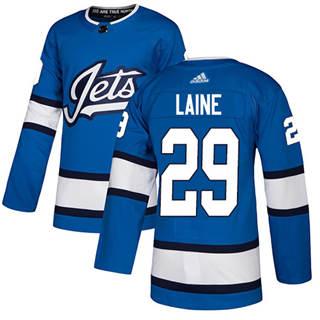 Men's  Winnipeg Jets #29 Patrik Laine Blue Alternate  Stitched Hockey Jersey