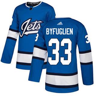 Men's  Winnipeg Jets #33 Dustin Byfuglien Blue Alternate  Stitched Hockey Jersey
