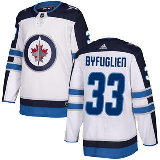 Men's  Winnipeg Jets #33 Dustin Byfuglien White Road  Stitched Hockey Jersey