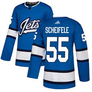 Men's  Winnipeg Jets #55 Mark Scheifele Blue Alternate  Stitched Hockey Jersey