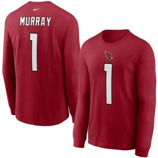 Men's Arizona Cardinals #1 Kyler Murray Player Name & Number Long Sleeve T-Shirt Cardinal