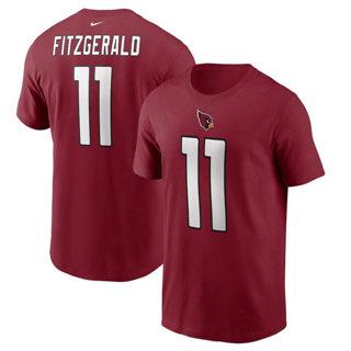 Men's Arizona Cardinals #11 Larry Fitzgerald Name & Number T-Shirt Cardinal