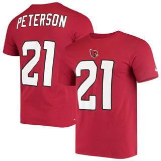 Men's Arizona Cardinals #21 Patrick Peterson Name & Number Performance T-Shirt Cardinal