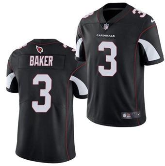 Men's Arizona Cardinals #3 Budda Baker Black Vapor Untouchable Limited Stitched Football Jersey