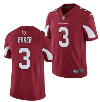 Men's Arizona Cardinals #3 Budda Baker Red Vapor Untouchable Limited Stitched Football Jersey