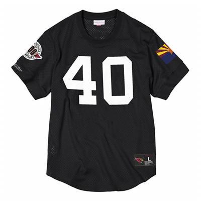 Men's Arizona Cardinals #40 Pat Tillman Black 1996 Mesh Top Stitched Jersey