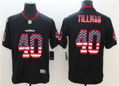 Men's Arizona Cardinals #40 Pat Tillman Black 2018 USA Flag Color Rush Limited Fashion Football Stitched Jersey