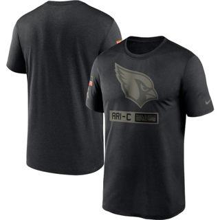 Men's Arizona Cardinals 2020 Salute to Service Team Logo Performance T-Shirt Black
