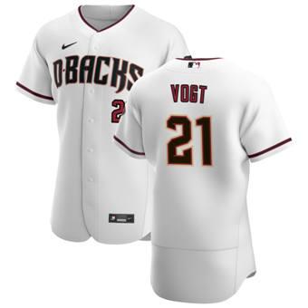 Men's Arizona Diamondbacks #21 Stephen Vogt White Crimson Authentic Home Team Baseball Jersey
