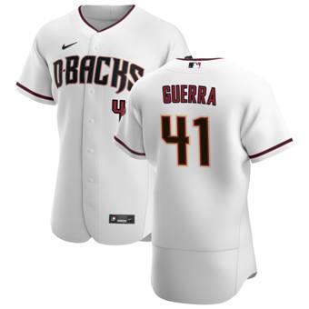 Men's Arizona Diamondbacks #41 Junior Guerra White Crimson Authentic Home Team Baseball Jersey