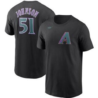 Men's Arizona Diamondbacks #51 Randy Johnson Cooperstown Collection Name & Number T-Shirt Black