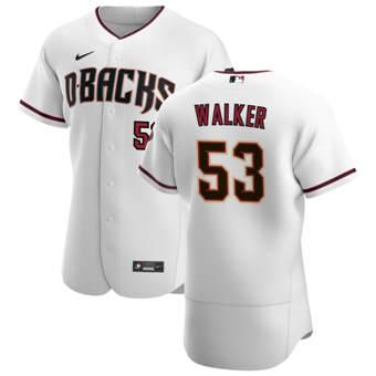Men's Arizona Diamondbacks #53 Christian Walker White Crimson Authentic Home Team Baseball Jersey