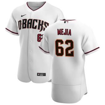 Men's Arizona Diamondbacks #62 Humberto Mejia White Crimson Authentic Home Team Baseball Jersey