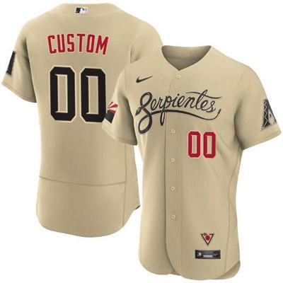 Men's Arizona Diamondbacks ACTIVE PLAYER Custom 2021 Gold City Connect Flex Base Stitched Baseball Jersey
