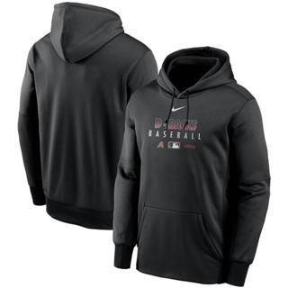 Men's Arizona Diamondbacks Black Authentic Collection Therma Performance Pullover Hoodie