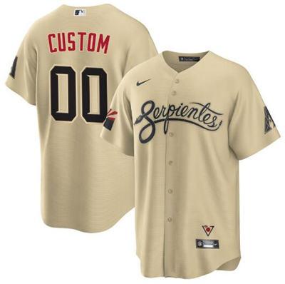 Men's Arizona Diamondbacks Gold ACTIVE PLAYER Custom 2021 City Connect Cool Base Stitched Baseball Jersey