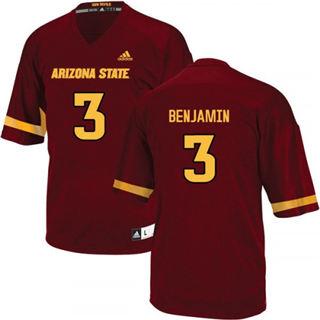 Men's Arizona State Sun Devils #3 Eno Benjamin Red 2019 College Football Jersey