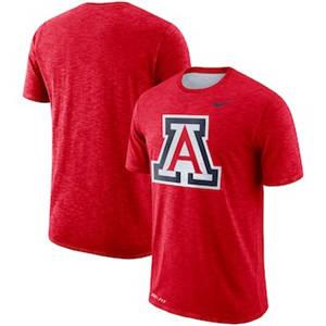 Men's Arizona Wildcats  Sideline Performance Cotton Slub T-Shirt - Red
