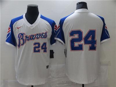 Men's Atlanta Braves #24 Cool Base Stitched Baseball Jersey