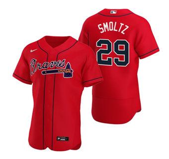 Men's Atlanta Braves #29 John Smoltz Red Flex Base Stitched Baseball Jersey