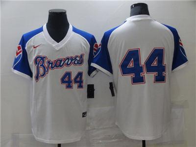Men's Atlanta Braves #44 Cool Base Stitched Baseball Jersey