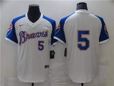 Men's Atlanta Braves #5 Cool Base Stitched Baseball Jersey