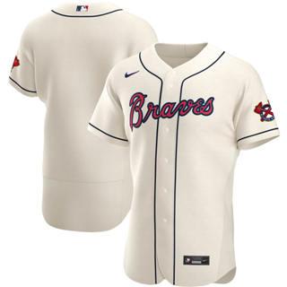 Men's Atlanta Braves 2020 Cream Alternate Authentic Official Baseball Team Jersey