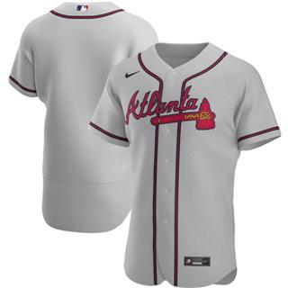 Men's Atlanta Braves 2020 Gray Road Authentic Official Baseball Team Jersey