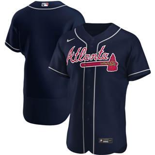 Men's Atlanta Braves 2020 Navy Alternate Authentic Official Baseball Team Jersey