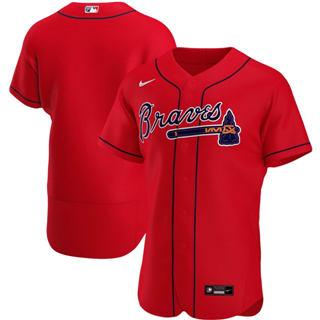 Men's Atlanta Braves 2020 Red Alternate Authentic Official Team Baseball Jersey