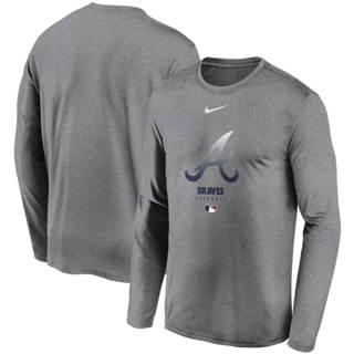 Men's Atlanta Braves Charcoal Authentic Collection Legend Performance Long Sleeve T-Shirt