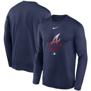 Men's Atlanta Braves Navy Authentic Collection Legend Performance Long Sleeve T-Shirt
