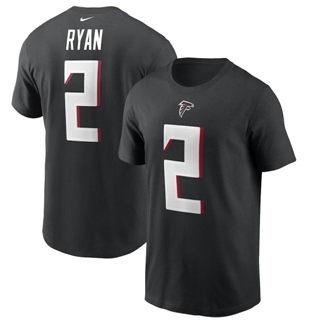 Men's Atlanta Falcons #2 Matt Ryan Team Player Name & Number T-Shirt Black