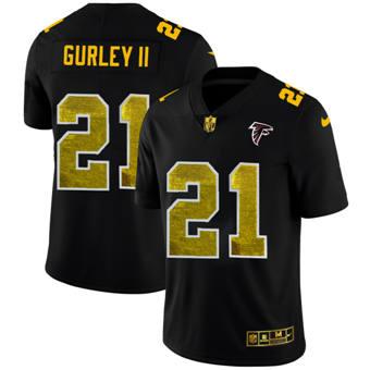 Men's Atlanta Falcons #21 Todd Gurley II Black Golden Sequin Vapor Limited Football Jersey
