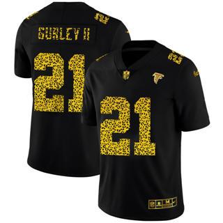 Men's Atlanta Falcons #21 Todd Gurley II Black Leopard Print Fashion Vapor Limited Football Jersey