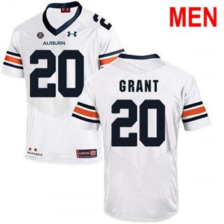 Men's Auburn Tigers #20 Corey Grant White 2019 College Football Jersey