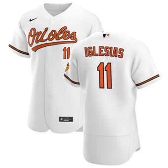 Men's Baltimore Orioles #11 Jose Iglesias White Home 2020 Authentic Player Baseball Jersey