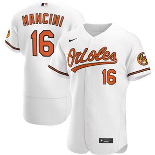 Men's Baltimore Orioles #16 Trey Mancini 2020 White Home Authentic Player Baseball Jersey