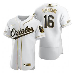 Men's Baltimore Orioles #16 Trey Mancini White 2020 Authentic Golden Edition Baseball Jersey