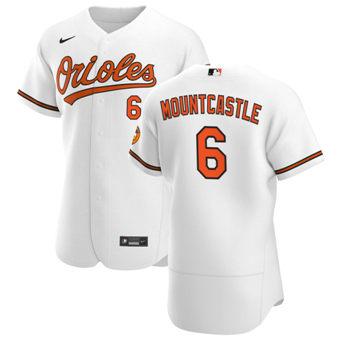 Men's Baltimore Orioles #6 Ryan Mountcastle White Home 2020 Authentic Player Baseball Jersey